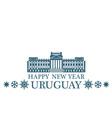 Happy New Year Uruguay vector image vector image