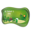 happy st patricks day with copy space paper art vector image
