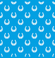 horseshoe pattern seamless blue vector image vector image