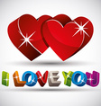 I love you phrase made with 3d colorful letters vector image