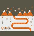 infographics landscape background vector image