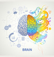 left right brain concept vector image