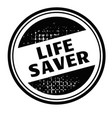 life saver advertising sticker vector image vector image