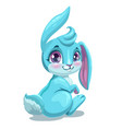 little cute sitting bunny girl vector image vector image