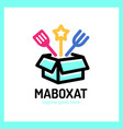 magic food box logo vector image vector image