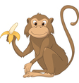 monkey cartoon vector image vector image