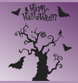 mystic tree happy halloween vector image