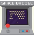 Old school pixel art style ufo arcade machine game vector image