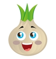 onion vegetable character cute icon vector image