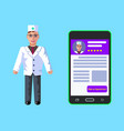 online medicine doctor s registration web banner vector image