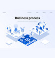 optimized business process teamwork landing page vector image vector image