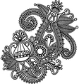 original hand draw line art ornate flower design vector image vector image