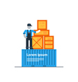Packaging and shipping logistics transportation vector image vector image
