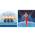 performing arts ballet and pop music performers vector image
