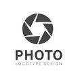 photography logo template modern creative vector image vector image