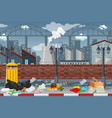 pollution in factory town vector image