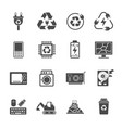 recycling e-waste garbage contains such icons as vector image