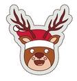 Reindeer cartoon of Merry Christmas vector image vector image
