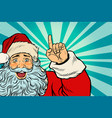 santa claus christmas character shows up vector image vector image