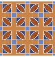 Seamless geometric pattern Brown vector image vector image