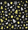 seamless gold and white christmas pattern vector image vector image
