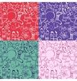 set christmas seamless pattern vector image vector image