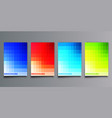 set colorful gradient cover template design for vector image