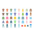 set of clothing vector image vector image