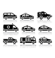 Set of service automobiles black icons vector image