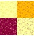set seamless patterns with bunnies vector image vector image