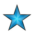 shiny blue star with rays vector image vector image
