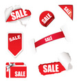 shop sale elements vector image
