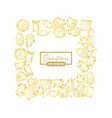 sparkling white gemstones different shaped square vector image