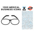 spectacles icon with 1300 medical business icons vector image vector image