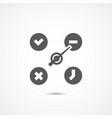 status icon vector image vector image