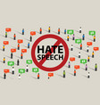 stop hate speech conflict violence start from vector image