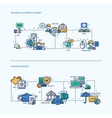 Technical Support Finance Icons Business Concept vector image