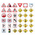 transport signs vector image vector image