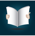 Two Hands Open The Book To Reading vector image