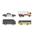 vehicles flat icons vector image vector image