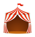 Circus tent on white backgound vector image