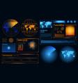 futuristic radar interface composition vector image