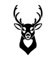 deer icon isolated on white background design vector image