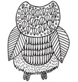 surreal floral owl coloring page vector image