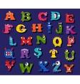 Halloween funny alphabet for children vector image