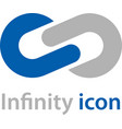 abstract infinity eight emblem vector image vector image