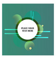 abstract line background with green background vector image vector image