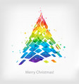 abstract multicolor christmas tree isolated on vector image vector image