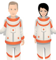 astronauts male female vector image vector image