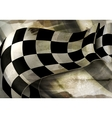 Background Horizontal Checkered old-style vector image